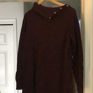 Gap (long sweater) - maroon - Large